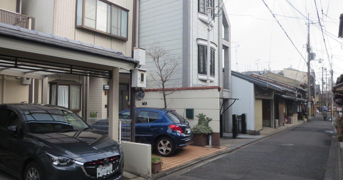 上京区_居住中の鉄骨3階建て(築28年)