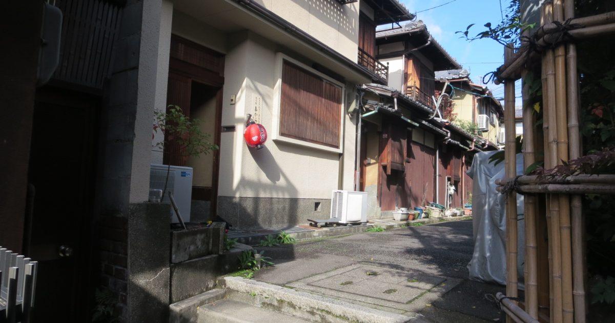 東山区_階段途中にある元京町家