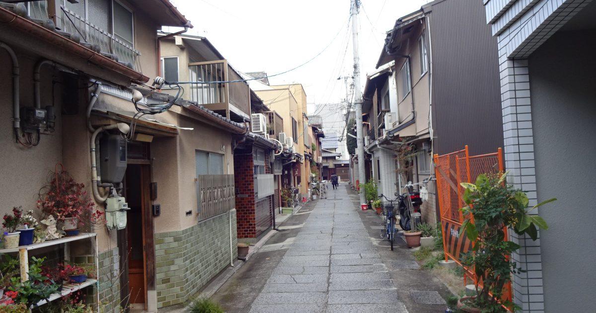 上京区_御所近くの老朽化激しい京町家