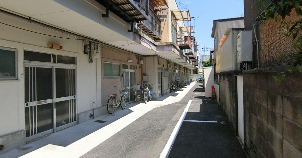 上京区_非道路に面した鉄骨造の長屋(再建不可)